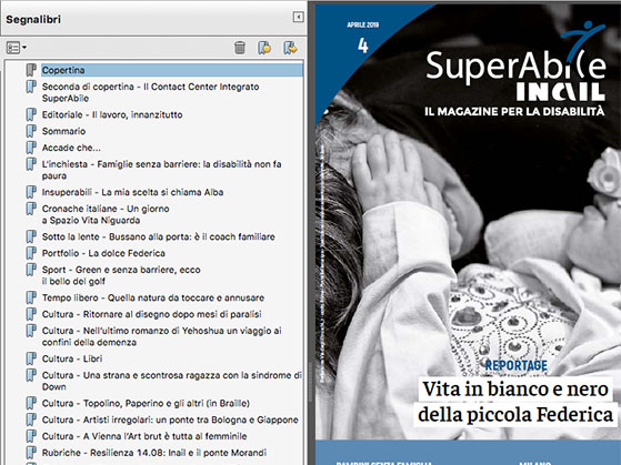 superabile magazine accessibile segnalibri