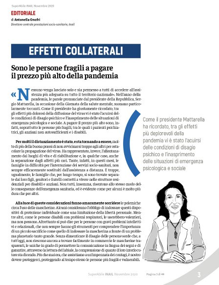 Visualizza la pagina 3 di SuperAbile Inail di Novembre 2020 in formato .pdf